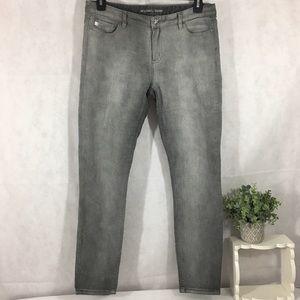Michael Kors grey stretch skinny jeans Sz10